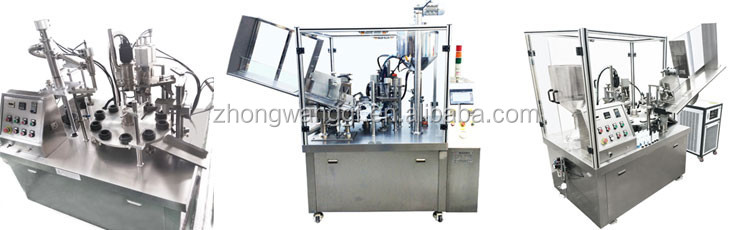 Cosmetic Ointment Cream Seal Soft tube filling machine