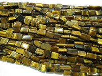 Natural Tiger eye rectangle Chicklet shape stone beads natural semi precious loose beads