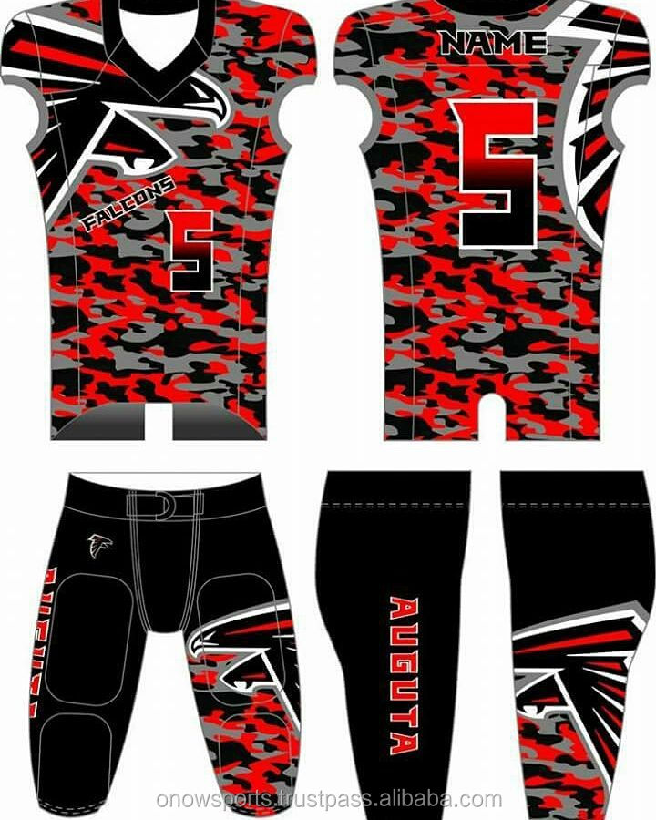 camo american football uniform