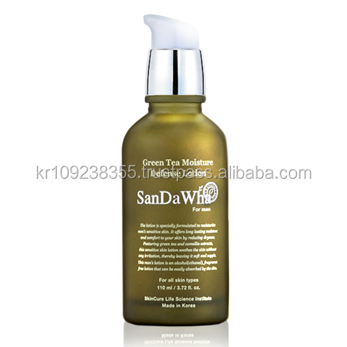 SanDaWha Korean Natural Skin Care from Jeju Island, Anti-aging, Anti-wrinkle, Firming, Moisture Green Tea Lotion for Men