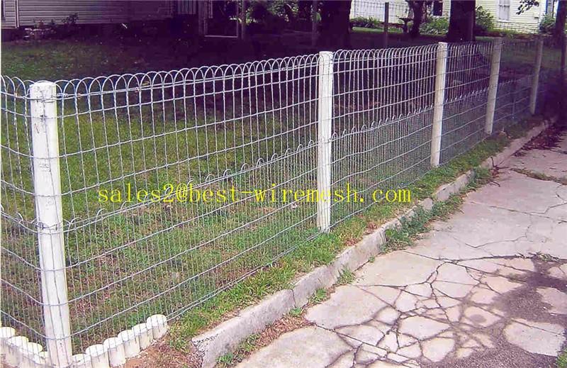 Green Vinyl Coated Welded Wire Mesh Double Loop Fencing