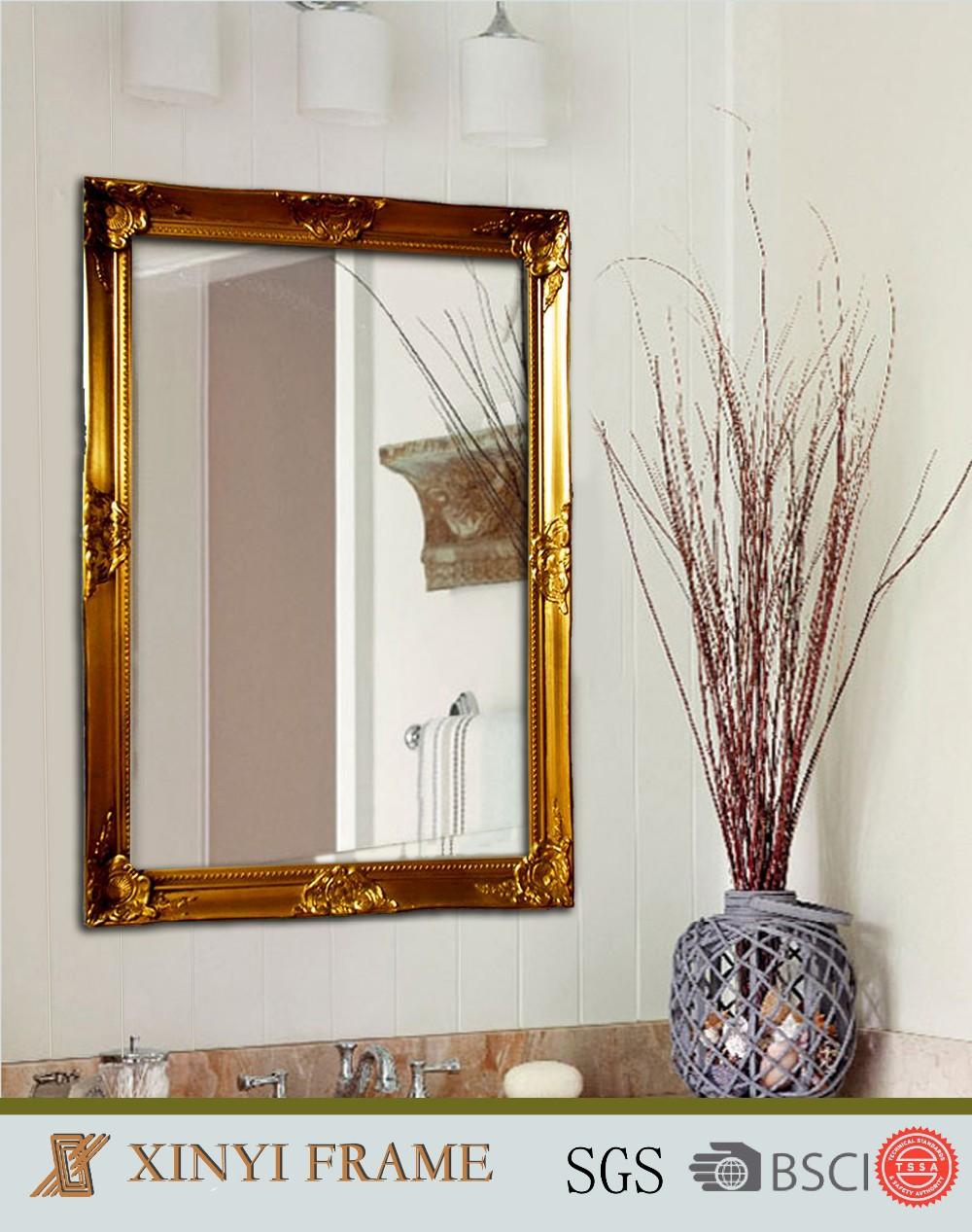 Hiasan Dinding Dekoratif Panjang Penuh Cermin Bingkai Kayu Yang Modern