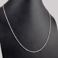 Fantastic Look White Plain Silver 925 Sterling Silver Chain, Wholesale Silver Jewelry, 925 Sterling Silver Jewelry