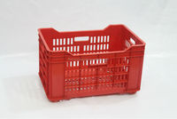 Plastic multi purpose inter- fixing crate