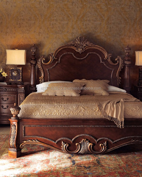 Teak Luxury Royal Bed indoor Furniture.