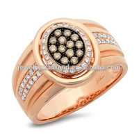 Art Craft Jewelry Simple Gold Ring Designs with White Diamond in Rose Soild Gold Vintage Wholesale