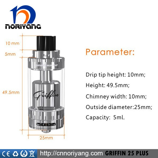 Hottest Selling Geekvape Griffin 25 Plus Atomizer Top Airflow