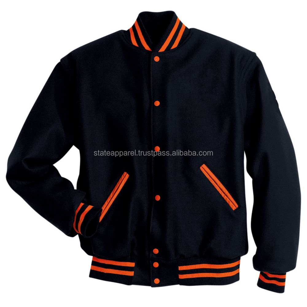 Plain Varsity Jacket Wholesale/Plain Baseball Jackets/Letterman Jackets With Varsity