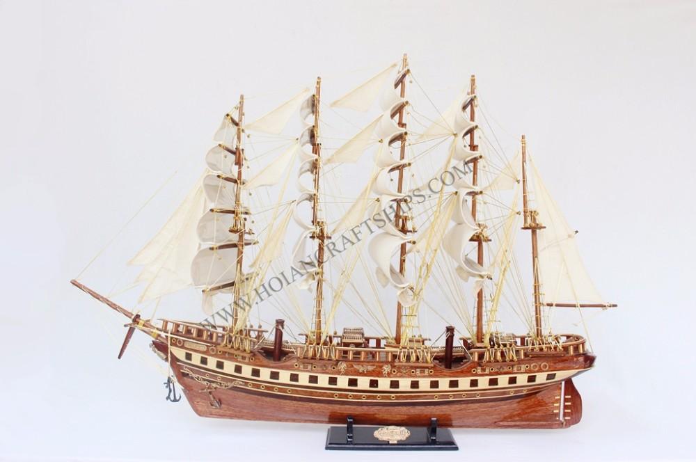 Francia Ii (80) Modelo De Barco De Madera,Estilo Náutico Decoración ...