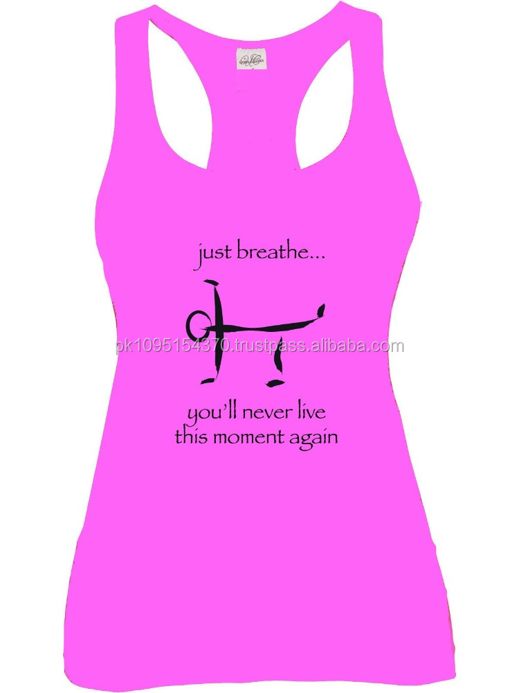WOMENS TOP RACERBACK T BACK GYM SINGLET BODYBUILDING YOGA GYM SINGLETS