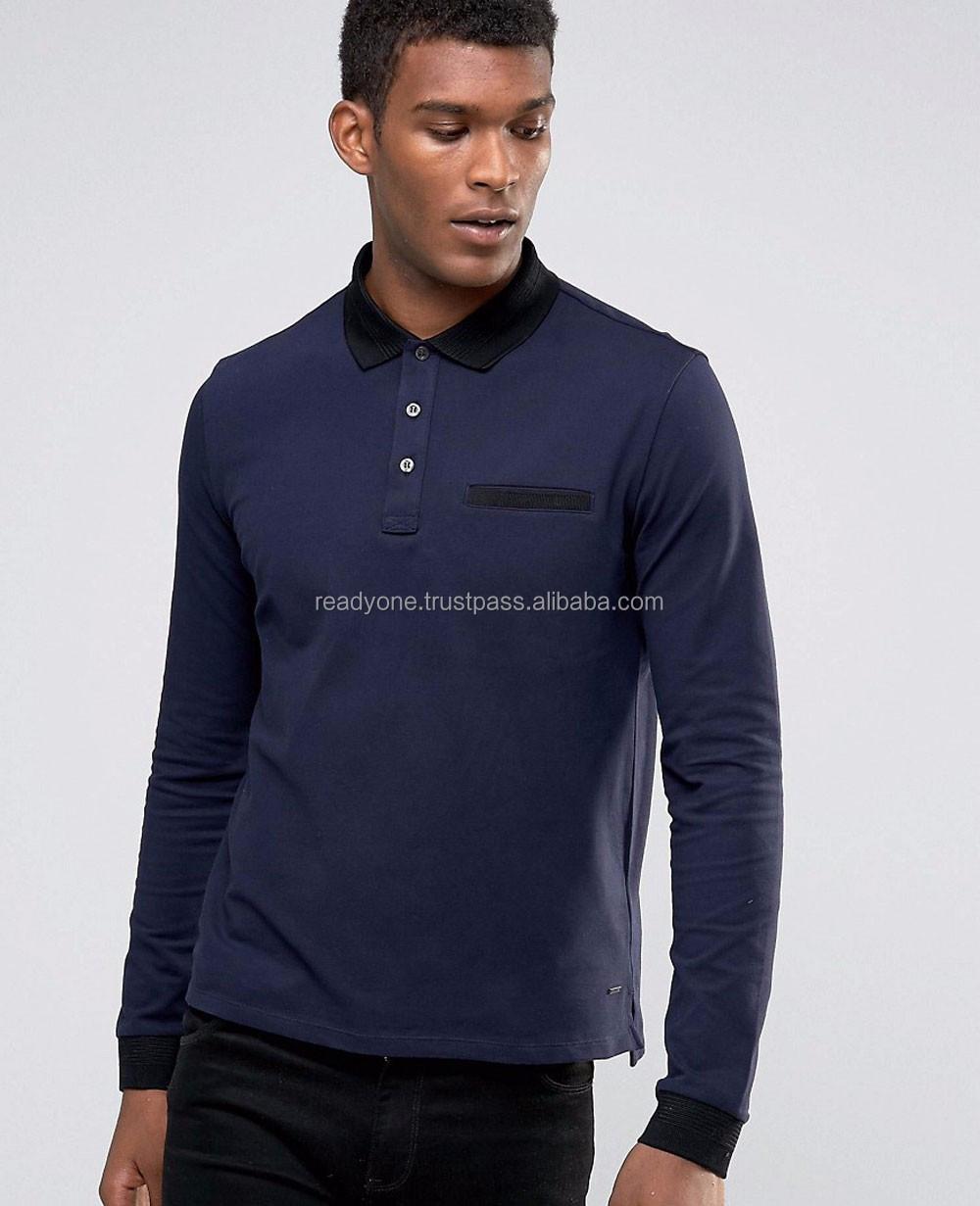 3563e6c0 Men's Long Sleeve Polo Shirt Custom Polo Shirts Original Design ...