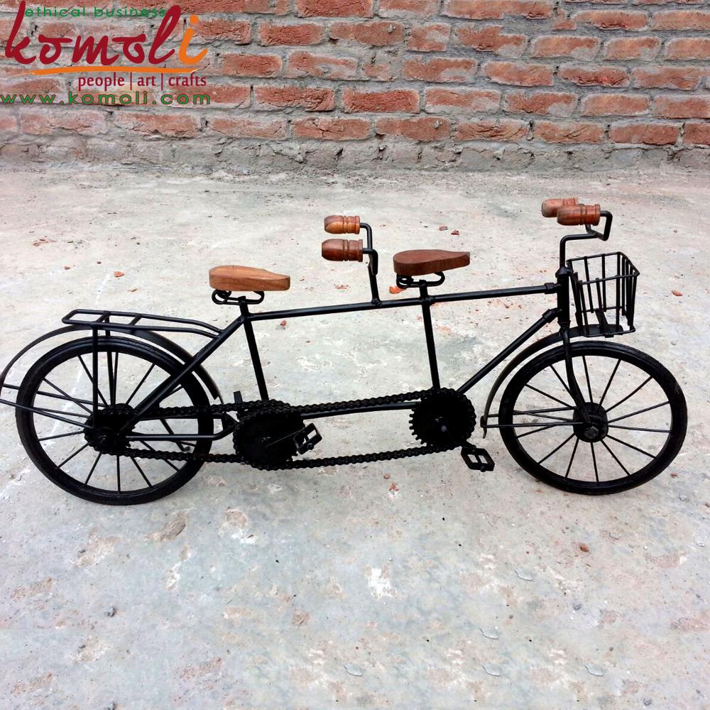 Komoli Craft Handmade Wrought Iron Miniature Bicycles 3 Jpg