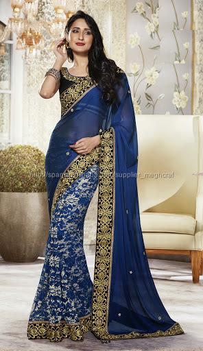 indio mayorista sari nupcial - indio boda sari de novia - bordado ...