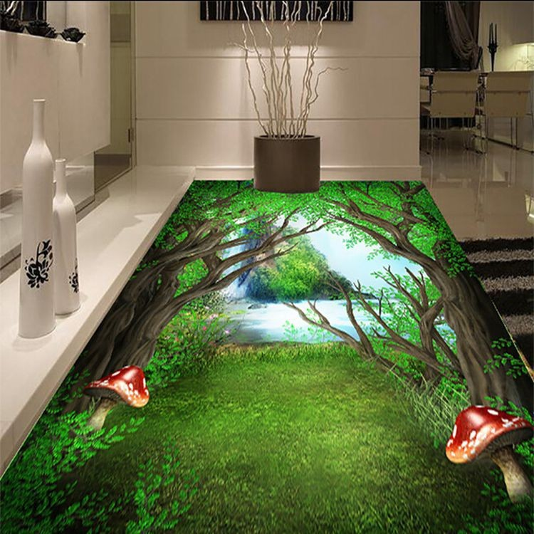 3d Effect Design Floor Tiles For Bathroom Buy