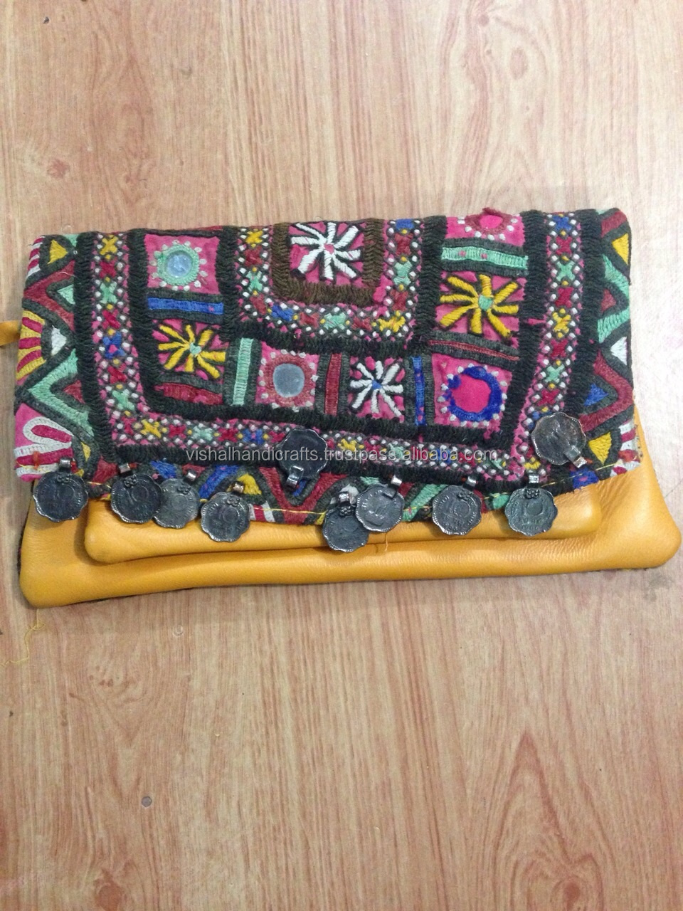 Designer Vintage Mix High Quality Sequiens Tribal Banjara Clutch ...