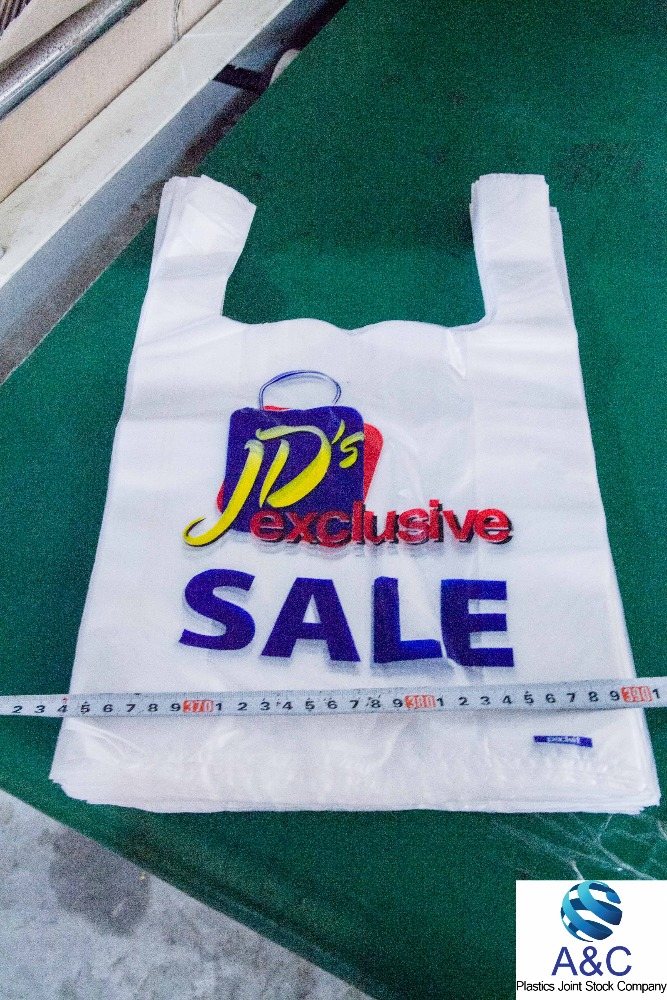 Cheap Cmyk Customer Logo Printed T-shirt Plastic Bag For ...