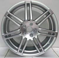 ALLOY WHEELS FOR AUDI style 18 INCH PCD 112 HYPER SILVER.......EUROPES MAIN SUPPLIER. BEST PRICE. ONLY 1 to 4 DAYS DELIVERY