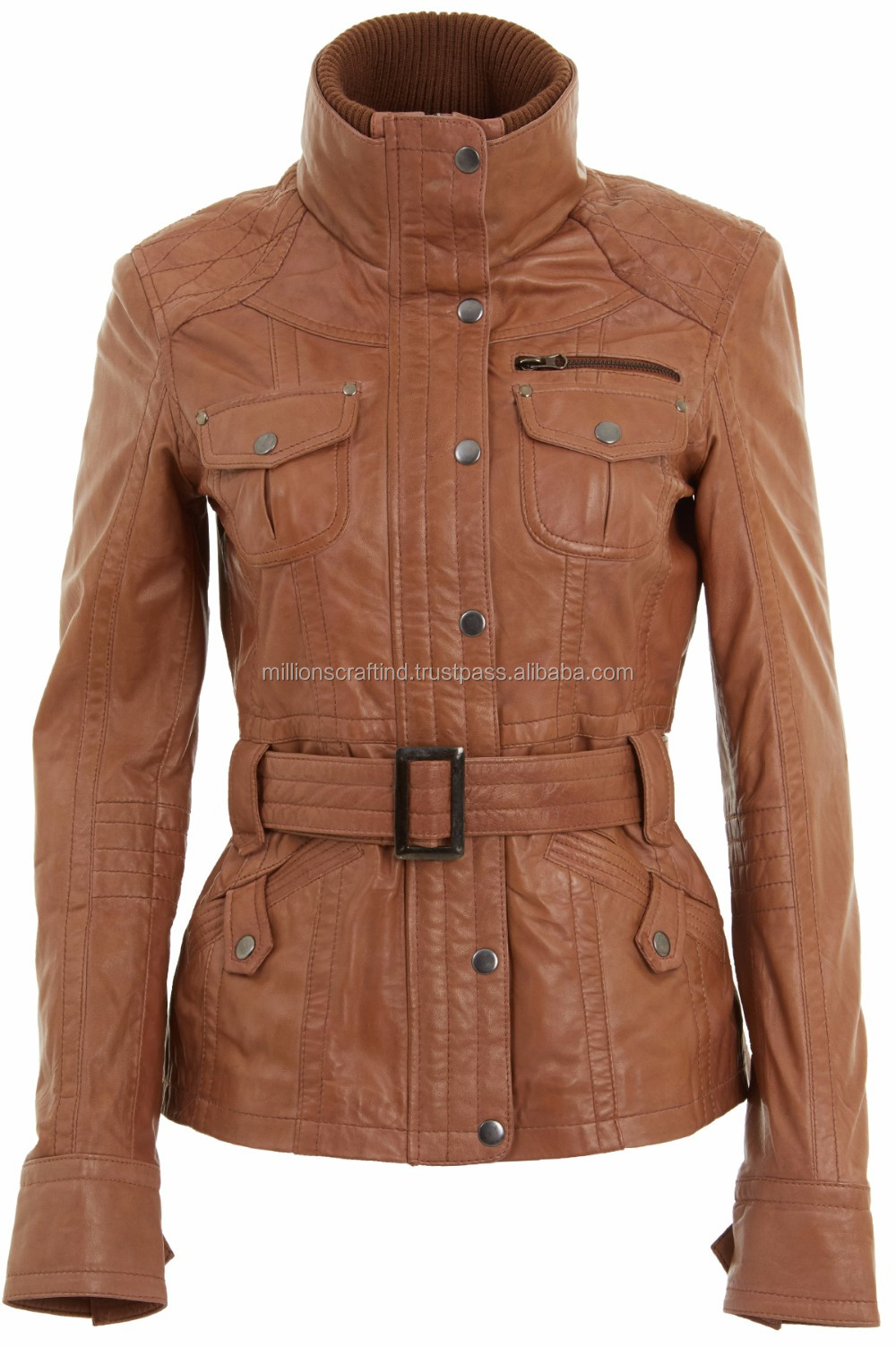 b14002a72b6 Classic Diamond Motorcycle Biker Brown Distressed Vintage real Leather  Jacket nice color