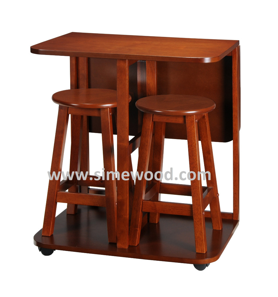 Foldable Mobile Wooden Table Plus 2 Stoolsbutterfly Gateleg Tableextendable Table Buy Breakfast Table Setfolding Table With Stoolsstudy Table