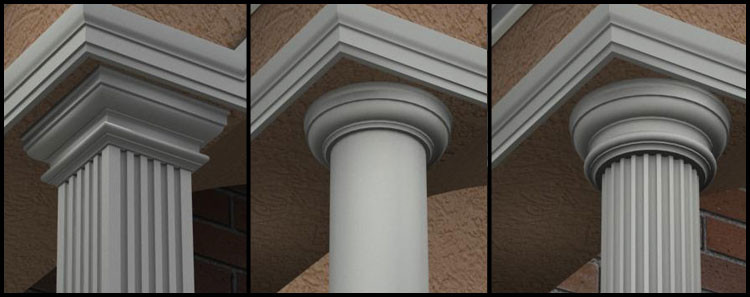 Styrofoam Decorative Columns With Polymer Cement Coating