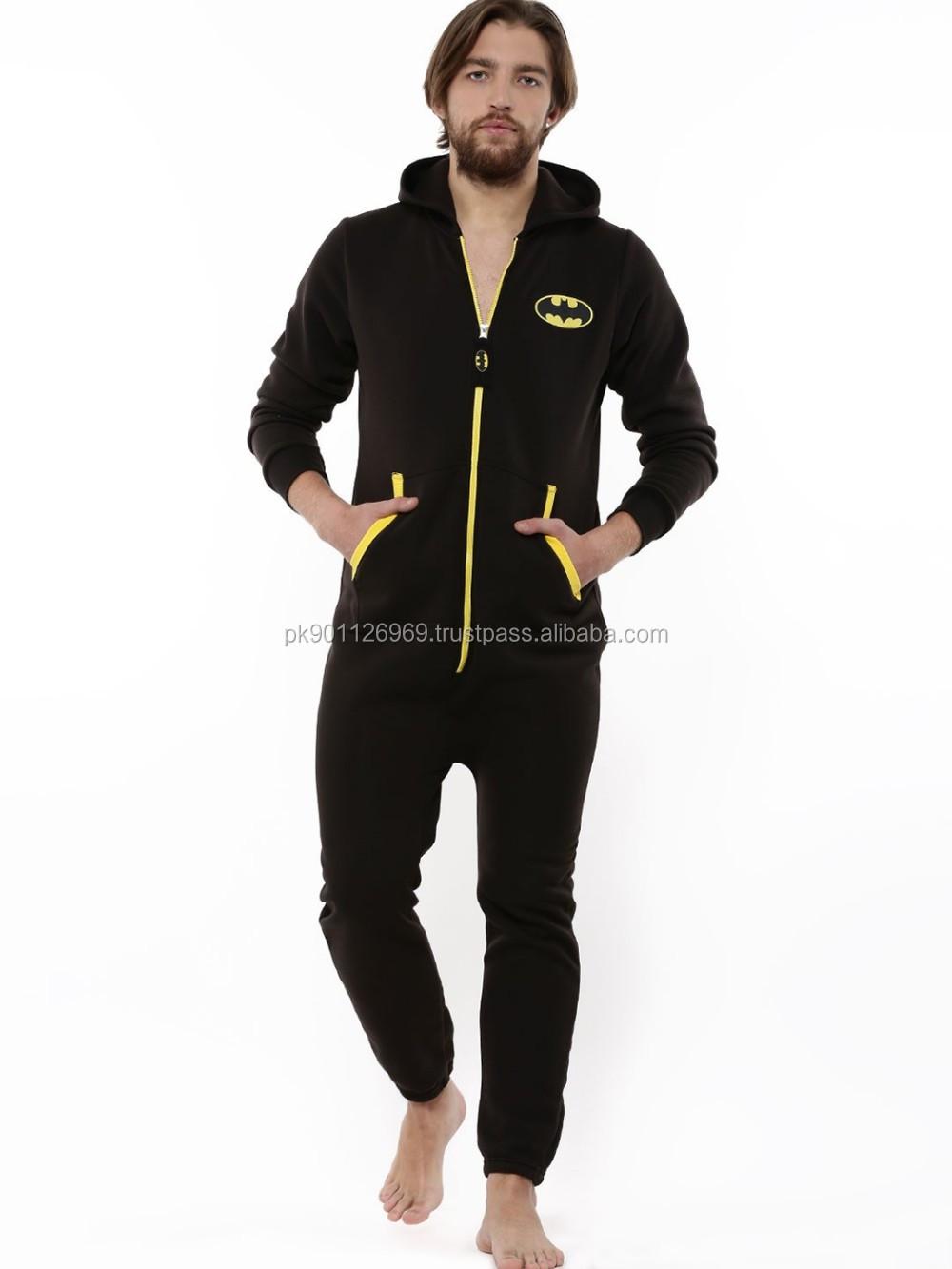 dcf3f358058d Cotton Fleece Jumpsuit For Men