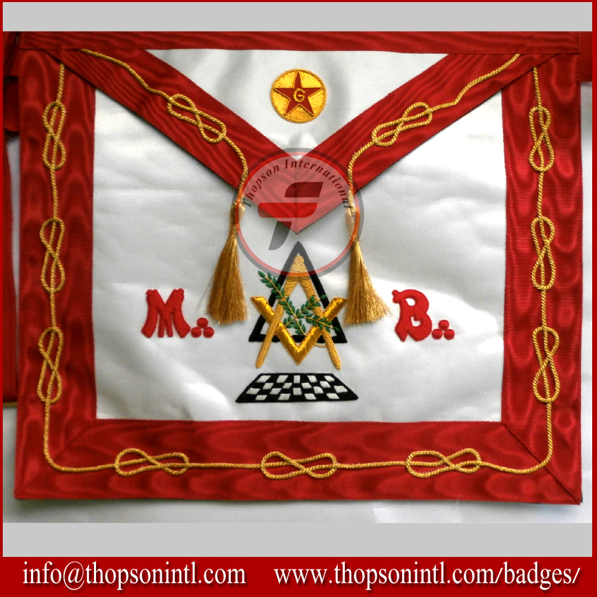Masonic French rite Master MB Apron - Groussier MB Apron