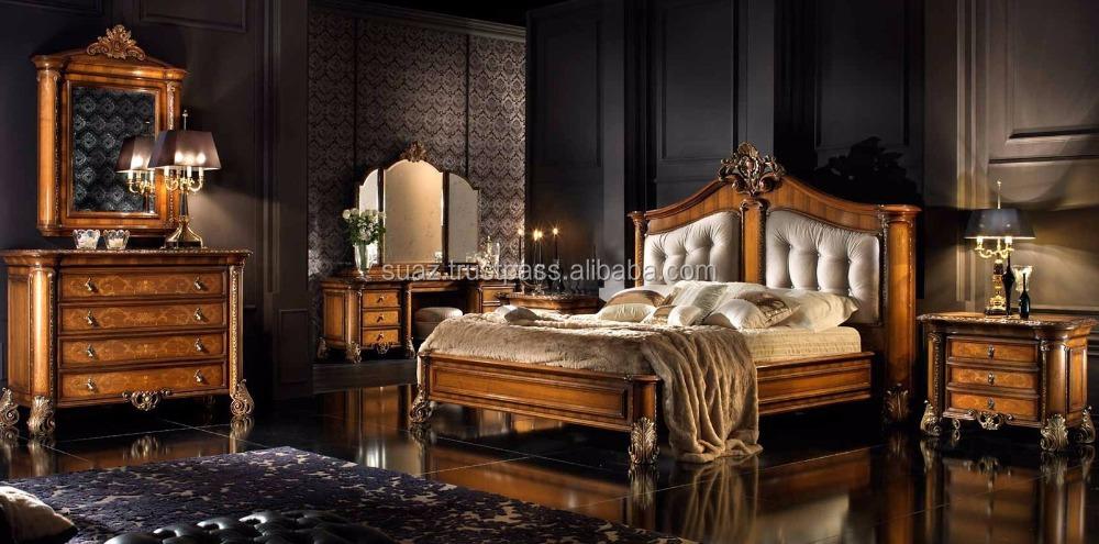 Muebles de dormitorio de lujo, italia tallado de madera, juegos de ...
