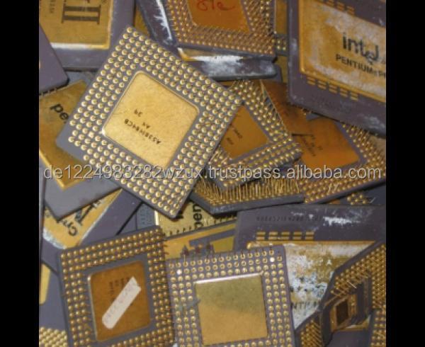 Intel Pentium Pro Ceramic Cpu Scrap Gold Scrap I486 And 386