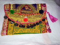 beautiful zari work indian vintage bag embroidered Clutch bag