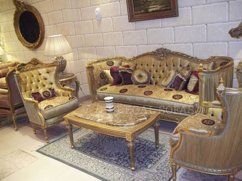 Red & Gold Sofa / Couch Suite Salon Set Living Room Furniture Set Italian  French Arabian Indian Royal Maharaja - Buy Couch Sofa Set Product on ...