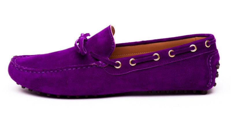 c03b05d41b1 Purple Suede Ladies   Mens Driving Shoes