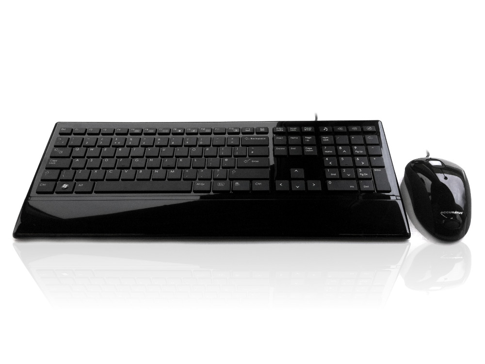 Accuratus Image Set - Usb Slim Full Size Keyboard & Mouse With ...