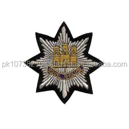 Hand Embroidery Bullion Wire Blazer Badges