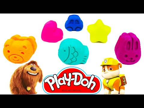 Play Doh Car Bear and Paw Patrol Peppa Pig Cookie Cutters Molds Fun Creative for Kids Learn Colours