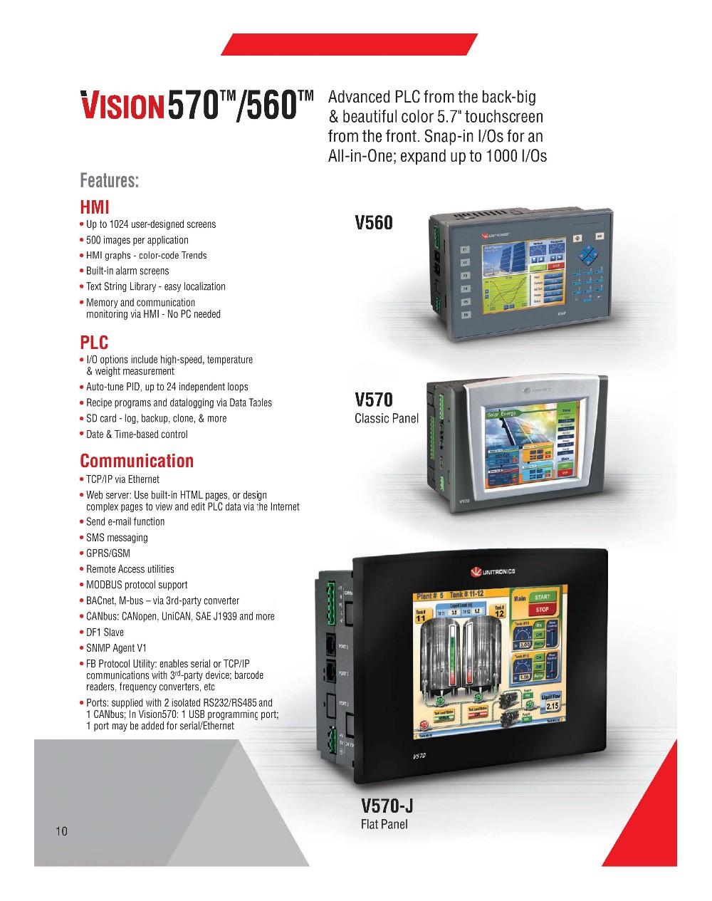 Unitronics V570 Hmi+plc - Buy Hmi Analog Plc,Integrated Plc