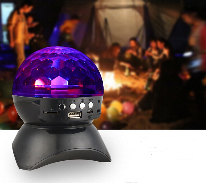 Christmas hot selling ! shenzhen portable mini wireless bluetooth speaker stereo aux led light fm radio usb