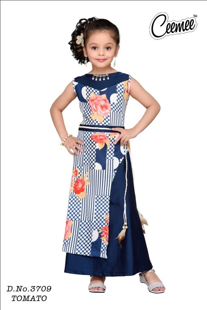 cf3a307fb Western Design Latest Gown Type Girls Frock - Buy Latest Kids Wear ...