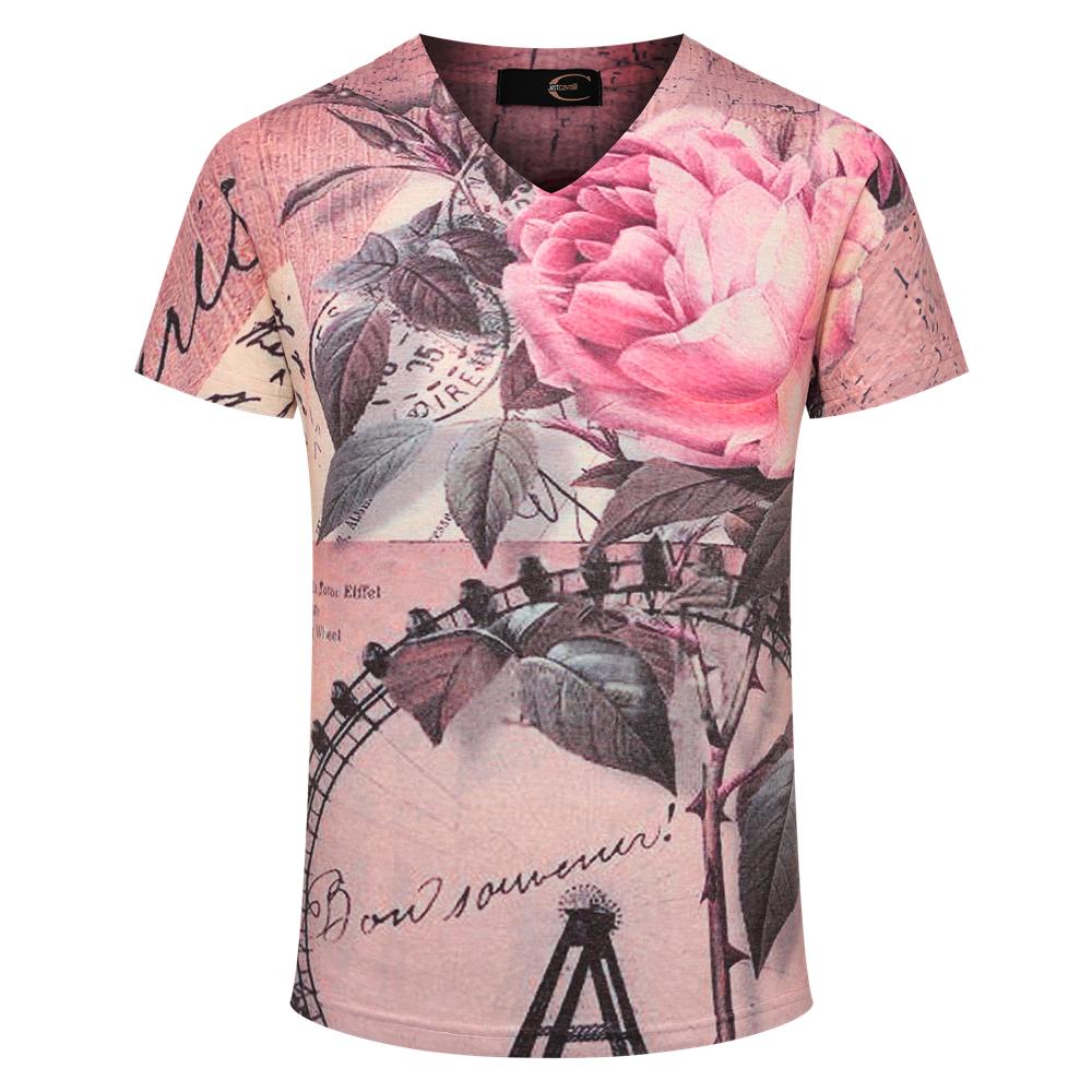 2015-new-arrival-men-t-shirts-fashion-design-flower-pattern-man-t ...