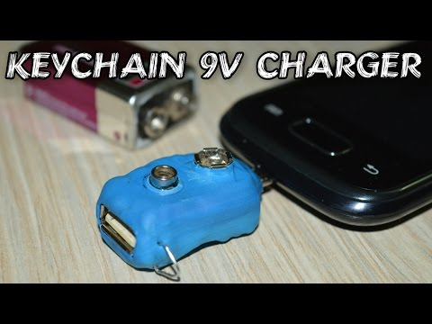 DIY Keychain Phone Charger - runs without electricity)
