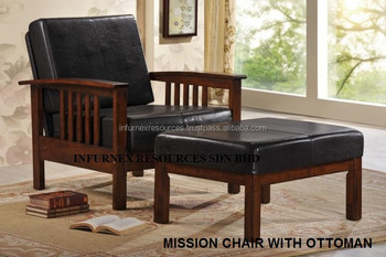 Ottoman Chair Malaysia Furniture Arm Sofa Rubber Wood Living Room