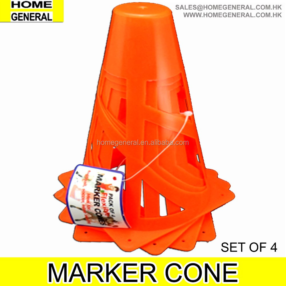 PLASTIC MARKER CONES (Set of 4 PCS), SPORTS CONE, BOUNDARY CONES, FLEXIBLE CONES FOR SPORTS, 2016 HK