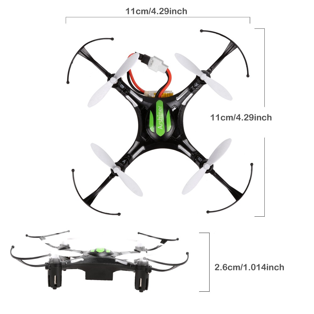 Arshiner 4CH 2.4G 6-Axis Gyro Headless RC Quadcopter Drone