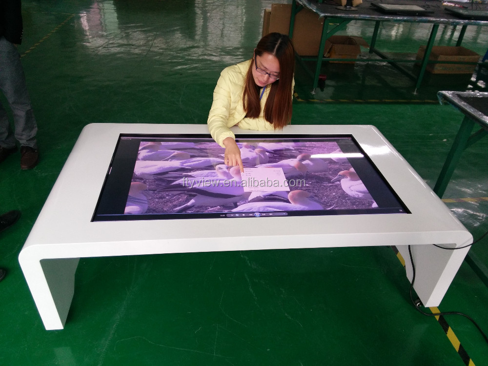 1080 Waterproof 10points Pcap Touch Screen Coffee Table