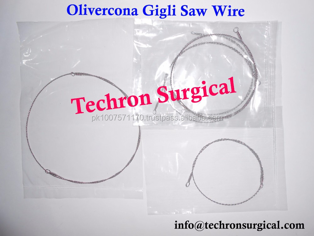 Gigli Wire Saw And Handles Use,Neurosurgery Olivecrona Gigli Wire ...