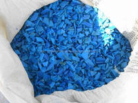 Plastic scrap suppliers supply blue regrind hdpe drum scrap