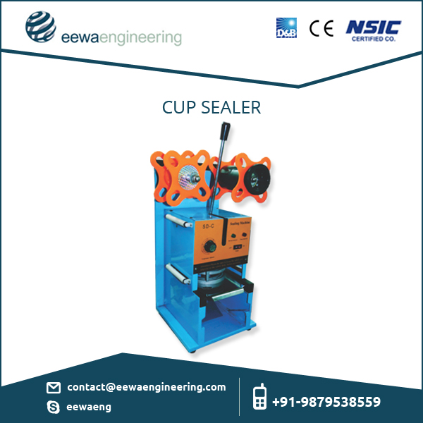 Result Oriented Accurate Semi Automatic Cup Sealer / Lid Sealing Machine Price