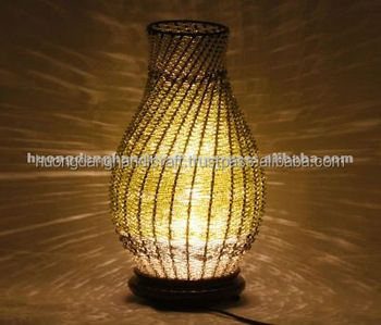 Bamboo table lamp with electric wiresocket and light bulb100 bamboo table lamp with electric wire socket and light bulb 100 handicraft in aloadofball Images