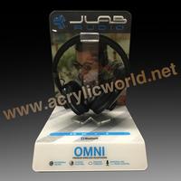 LED Acrylic Headset Display Case for Earphone