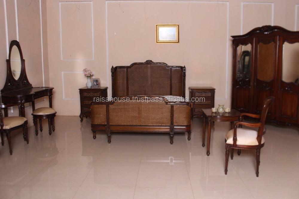 reproductie antieke meubels slaapkamer franse rotan set antieke