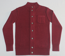 Men's Cardigan with button and chest pocket sweater pullover cardigan